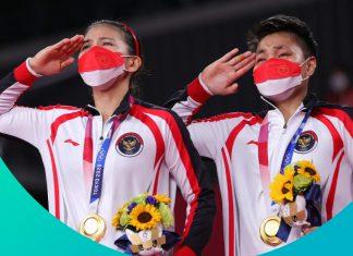 Ganda Putri Indonesia Raih Emas Olimpiade Tokyo 2020